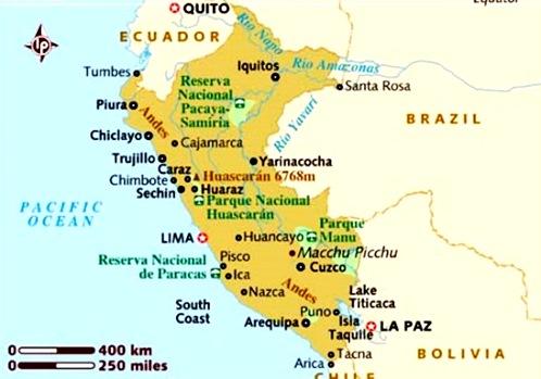 Cuál es la extensión territorial de Perú