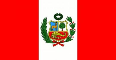 La Bandera actual de Perú