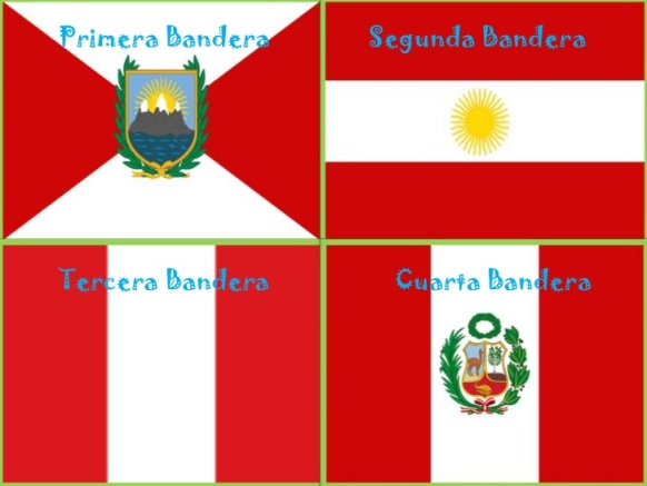Las cuatro banderas del Perú
