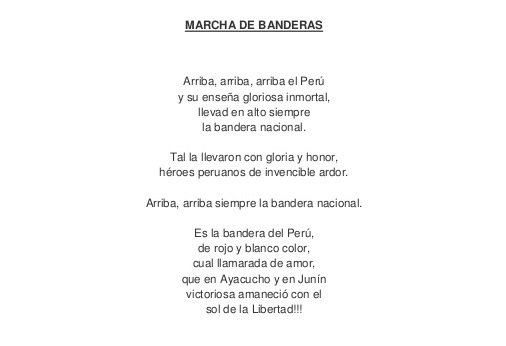 Himno a la bandera del Perú