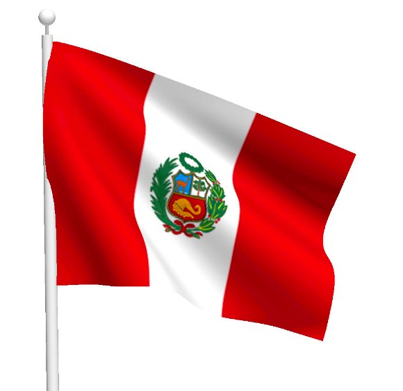 Imágenes de la bandera de Perú con asta