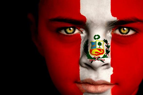 Imágenes de la bandera de Perú rostro