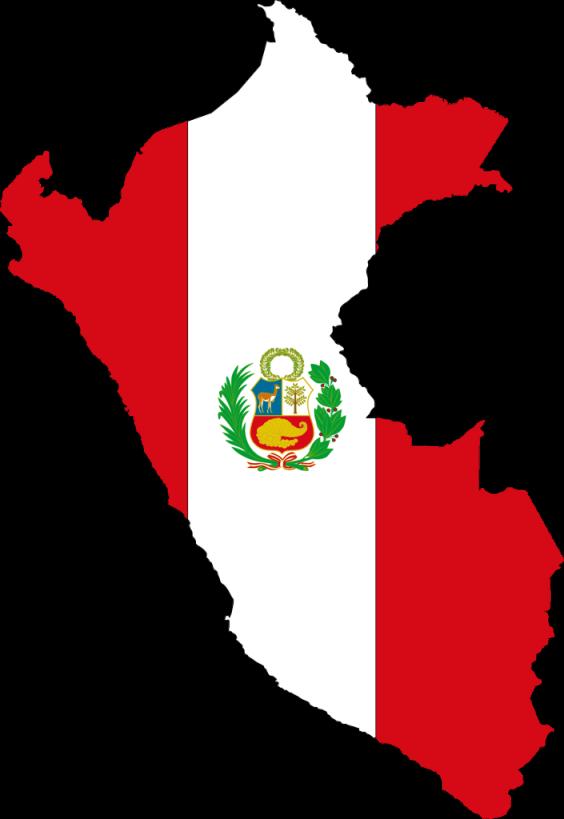 Imágenes de la bandera de Perúen mapa