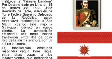 Quién creó la segunda bandera de Perú