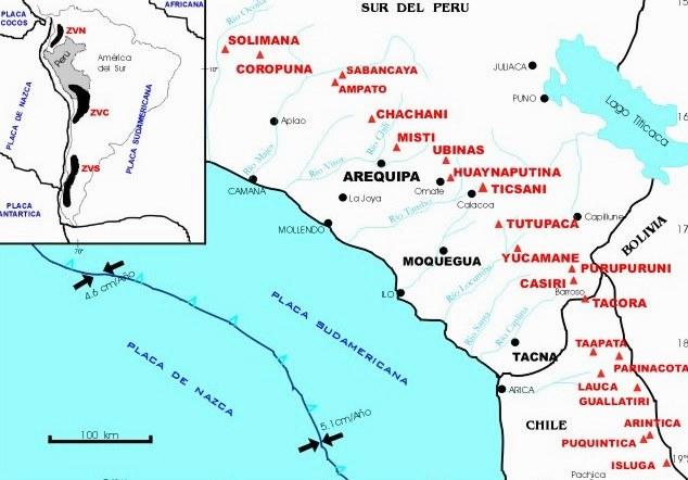 Volcanes más importantes de Perú