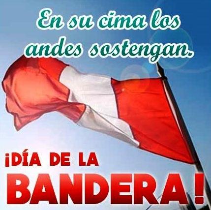 Bandera de Perú con frases