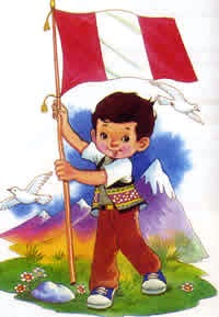 Bandera de Perú para niños