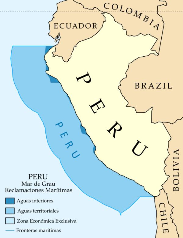 información de los límites geográficos del perú