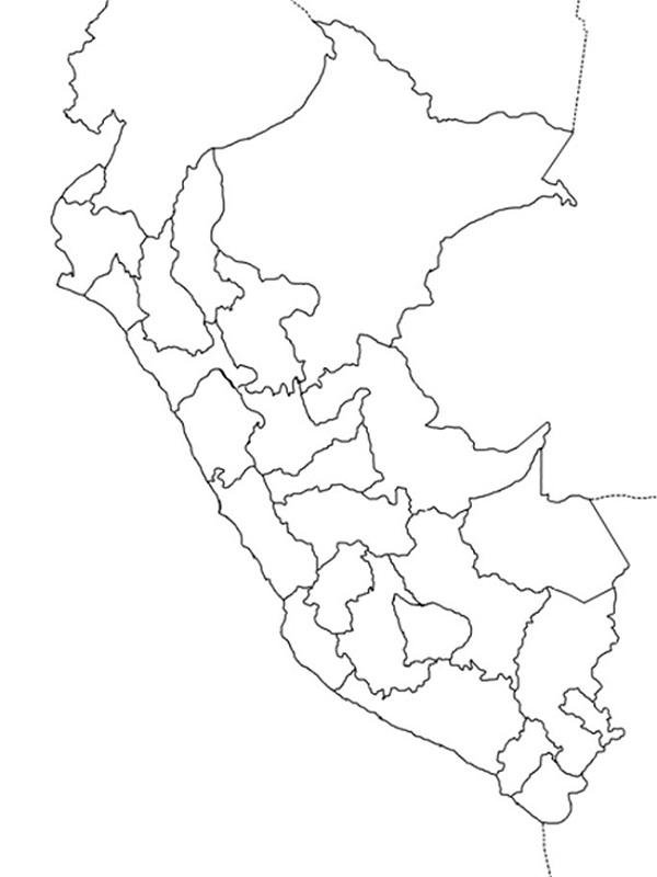 mapa mudo del perú