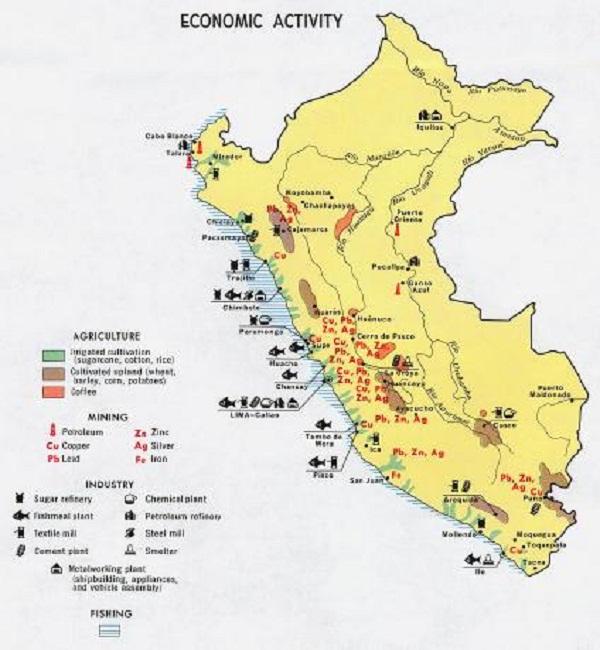 mapa economico del peru