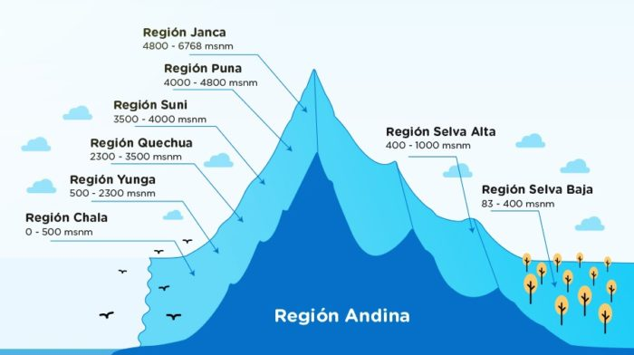 regiones naturales de perú