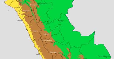 Mapa de las ecorregiones de Perú
