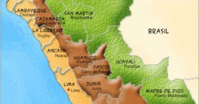 Mapa de las regiones de Perú