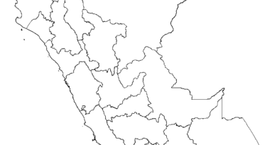 Mapa de Perú para colorear
