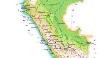 Mapa físico del Perú