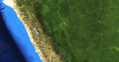 Mapa satelital de Perú